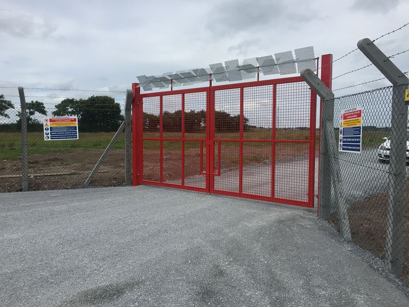 HBS Construction Cork Airport Fire Training Facility Chainlink Fecne & Weldmesh Gates.8