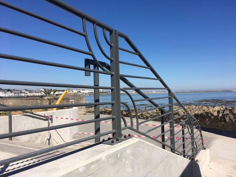 Irish Fencing Customised Handrail Dunlaoire (4)
