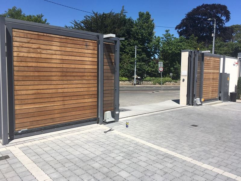 Irish Fencing Services Fanagans Funeral Home Sliding Gate.1