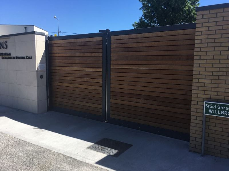 Irish Fencing Services Fanagans Funeral Home Sliding Gate.3