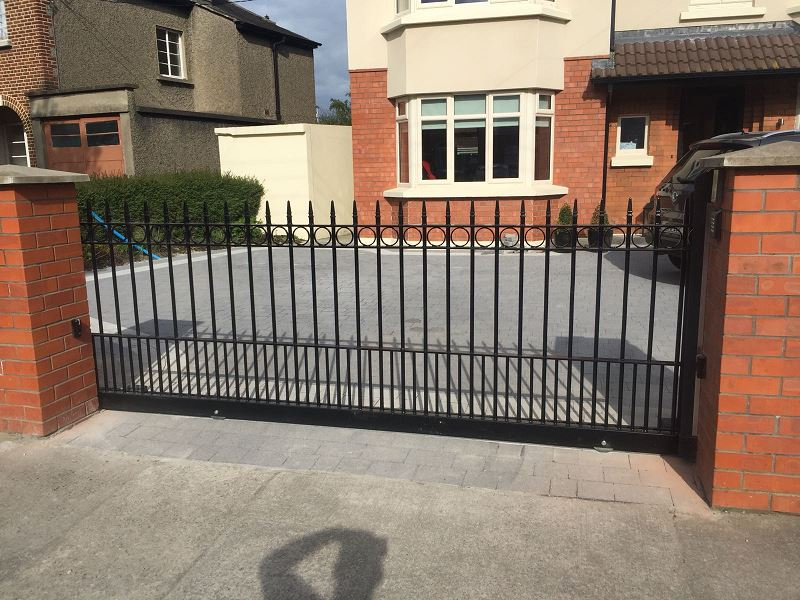 Irish Fencing Services Residential Ornamental Swing Gate.2