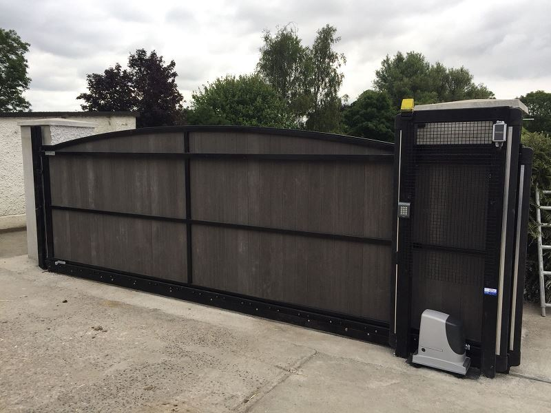 Irish Fencing Services Residential Sliding Composite Gate.1