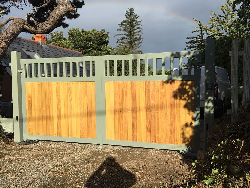 Irish Fencing Services Residential Swing Timber Gate.1