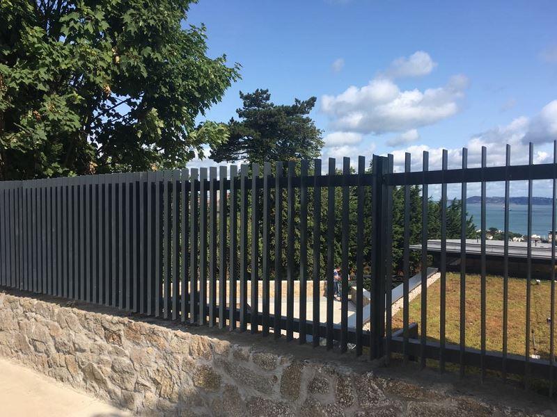 Irish Fencing Services Flat Bar Railing Gates.6