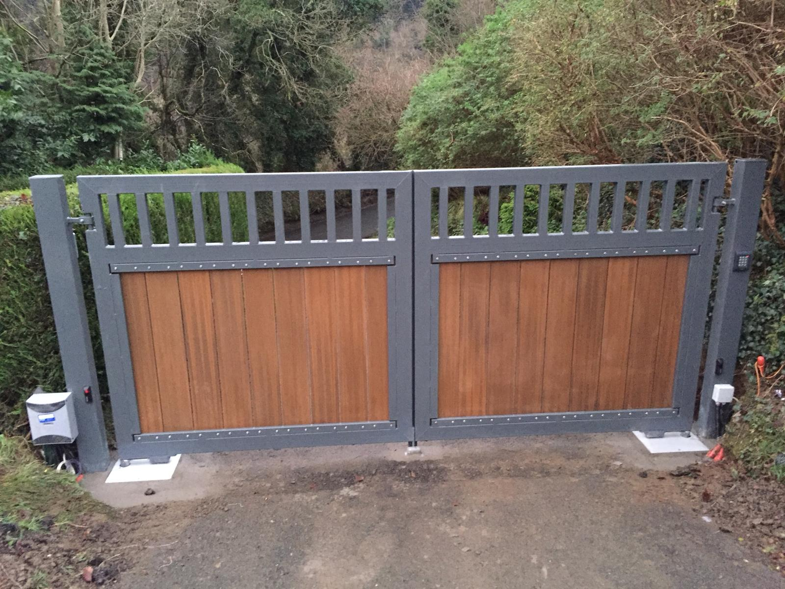 Irish Fencing Composite Fences And Gates-Double Leaf