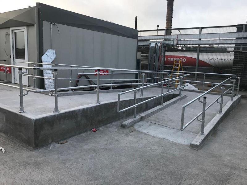 Irish Fencing Services KeeKlamp Handrail Dublin Port.1