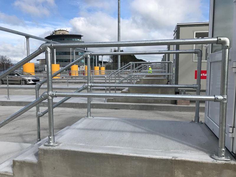 Irish Fencing Services KeeKlamp Handrail Dublin Port.4