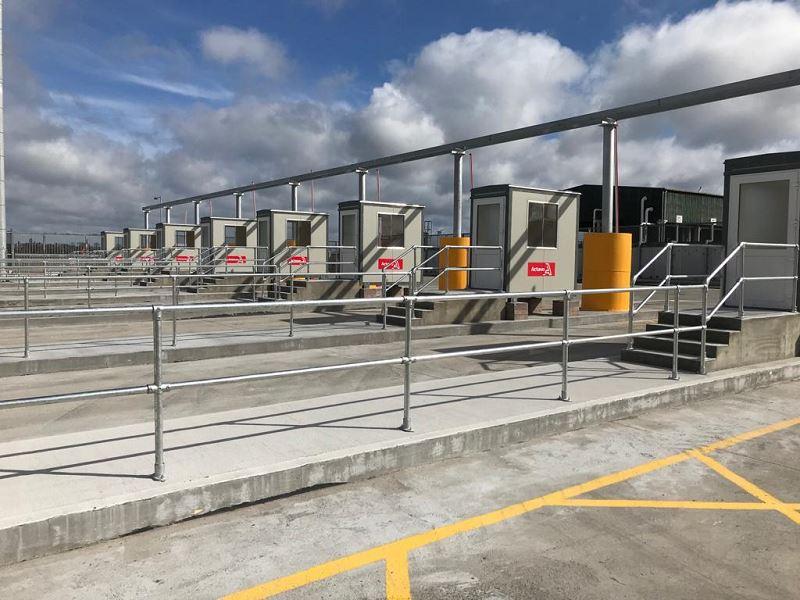 Irish Fencing Services KeeKlamp Handrail Dublin Port.5