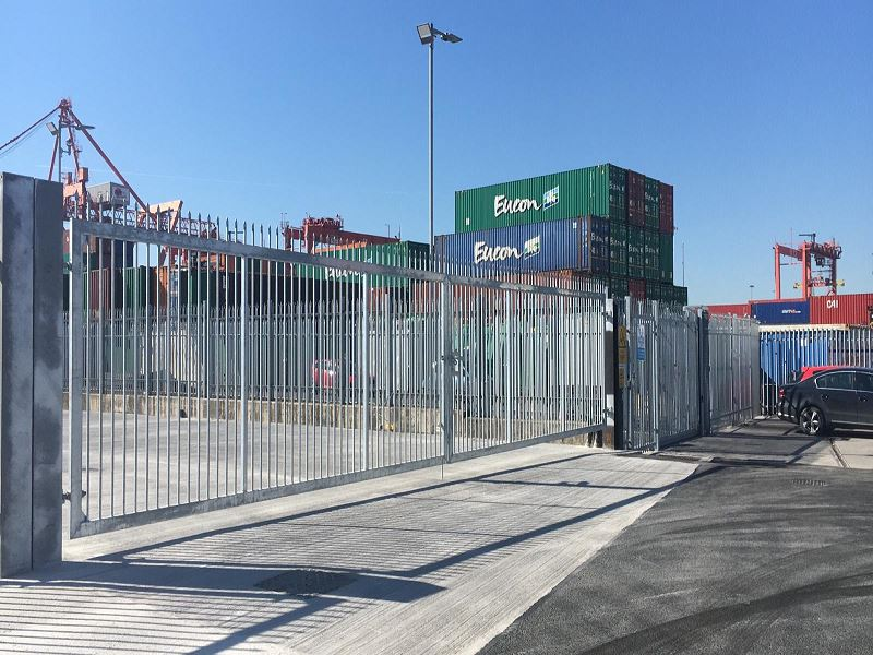 Irish Fencing Services Palisade Fence & Leinster Gate Dublin Port.5