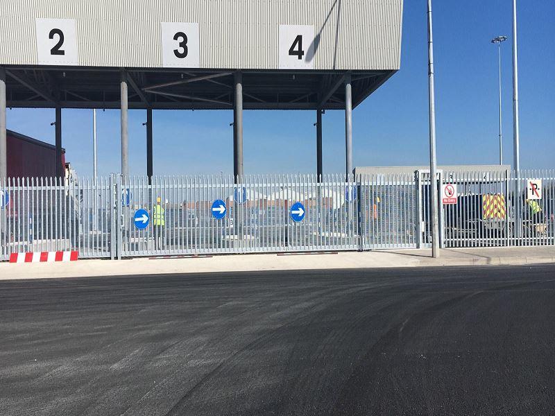 Irish Fencing Services Palisade Fence & Sliding Gate Dublin Port.6