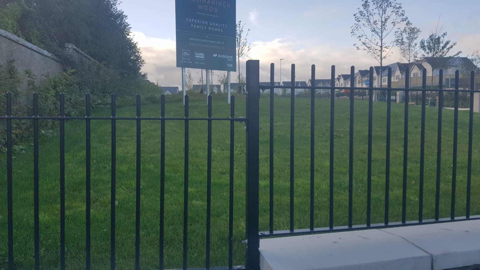 Irish Fencing Services Soulid Round Bar Railing Black.1