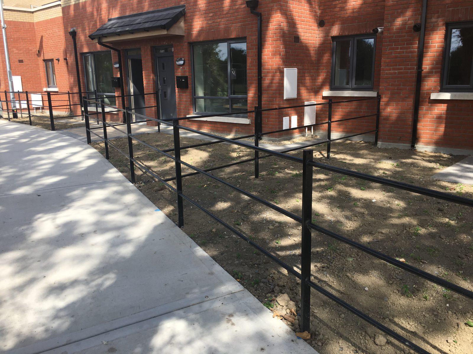 Irish Fencing Services Kenmare Residential Estate Railing Black