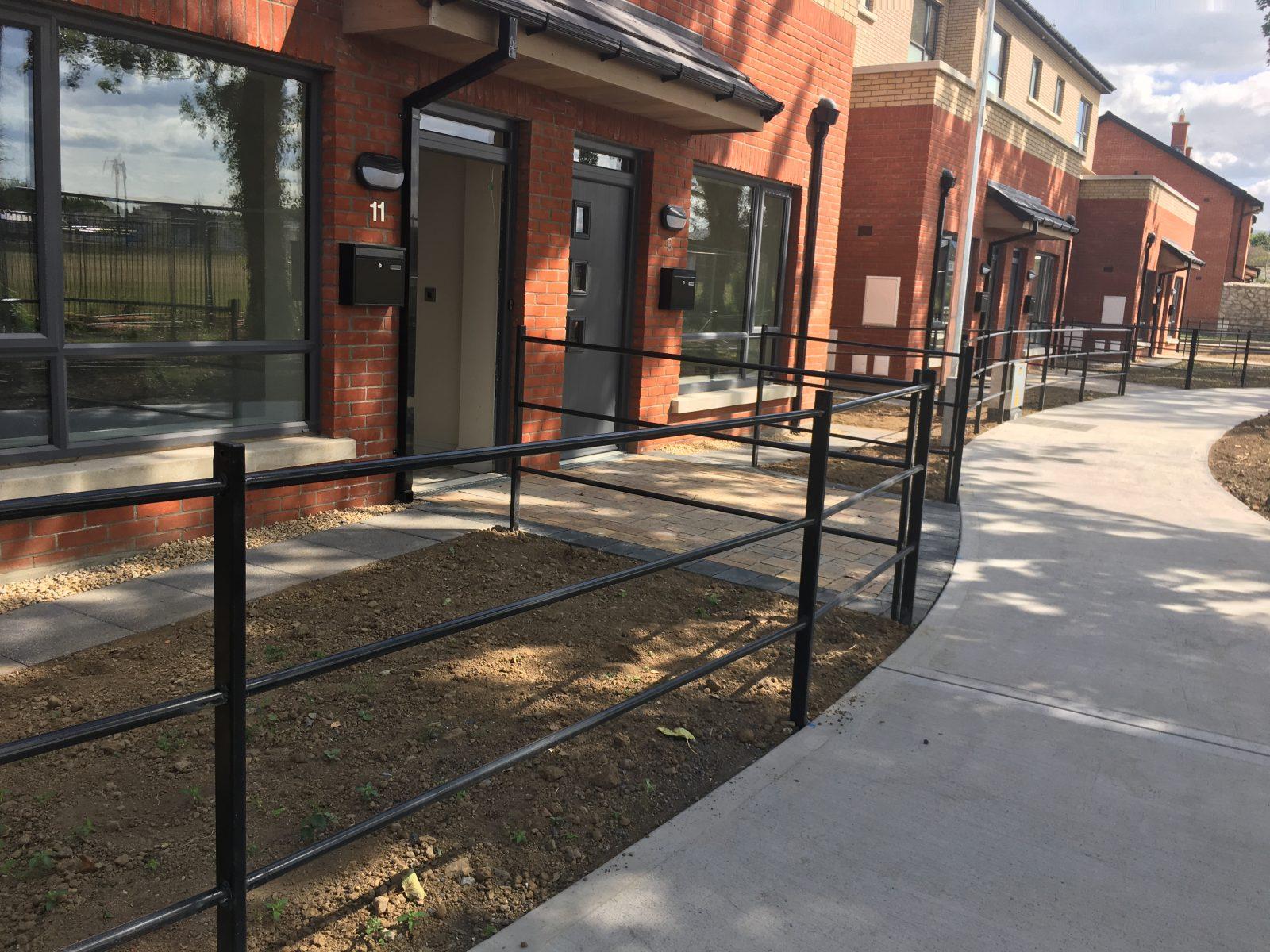 Irish Fencing Services Kenmare Residential Estate Railing Black1