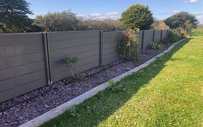 Composite Garden Fence.
